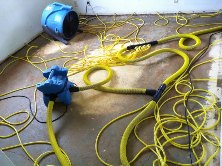 Equipment used for water damage restoration in Kauai County, HI